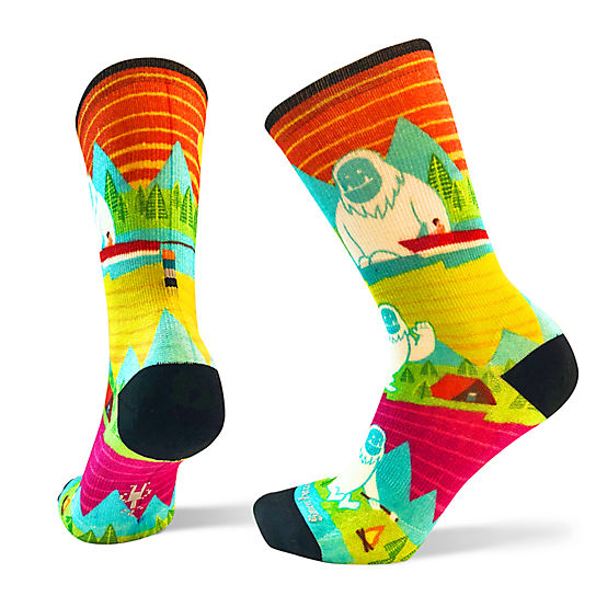 Yeti or Not Print Crew Socks