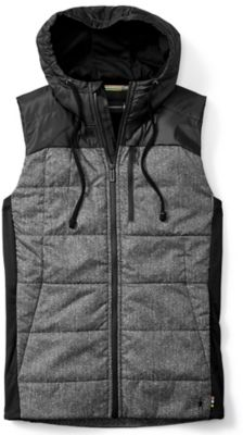SmartWool Men's Double Propulsion 60 Pattern Hoody Vest - Black SW:016019:001:XXL::1: