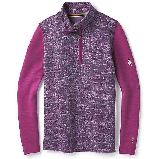 Kids' Merino 250 Base Layer Pattern Zip T