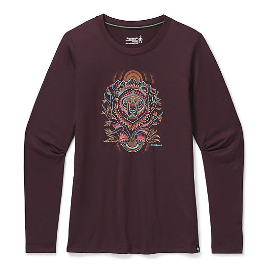 Women's Merino Sport 150 Autumn Sun Long Sleeve Graphic Tee