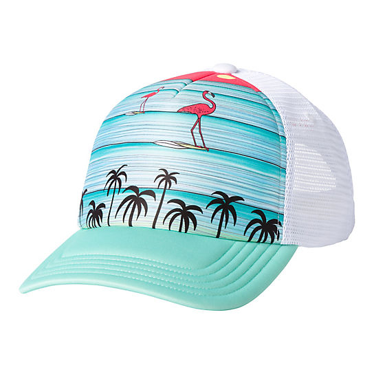 Surfing Flamingos Trucker Cap
