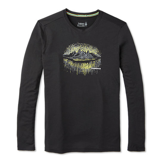 Men's Merino Sport 150 Mountain Aurora Long Sleeve Tee