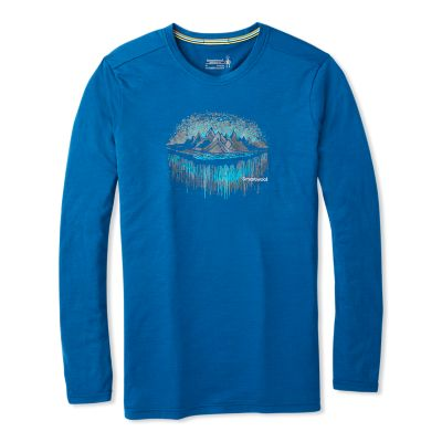 Men S Merino Sport 150 Mountain Aurora Long Sleeve Smartwool 174