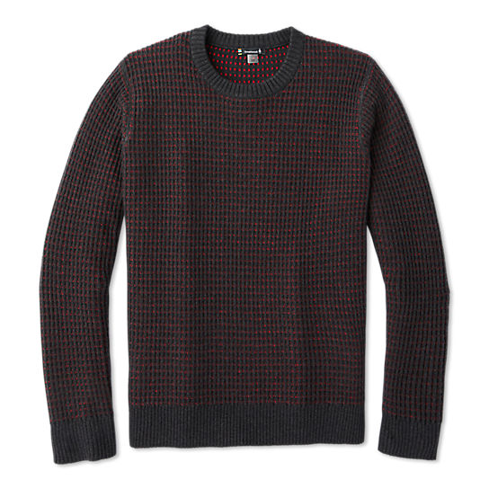 Men's Ripple Ridge Tick Stitch Crew Sweater