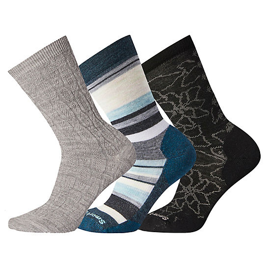 Women's Texture Socks Trio Gift Box