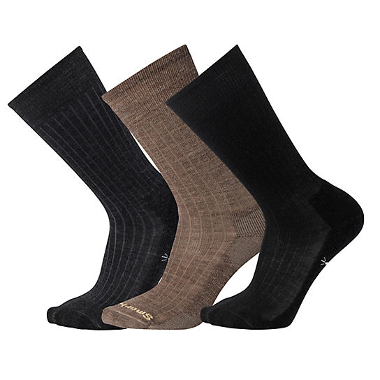 Men's New Classic Rib Crew Socks - 3Pk