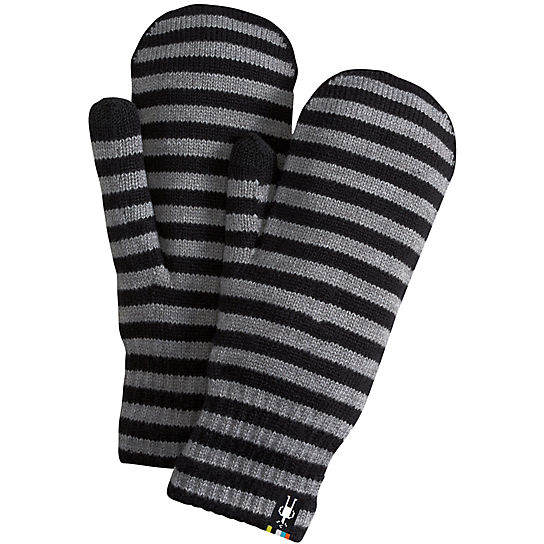 Striped Knit Mitt