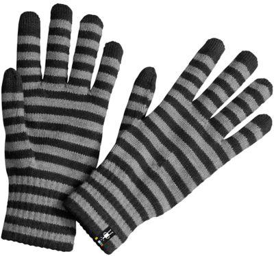 SmartWool Striped Liner Gloves - Black